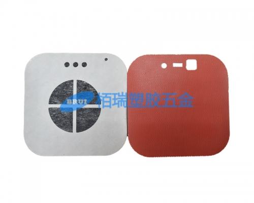 音箱红色塑胶喇叭网